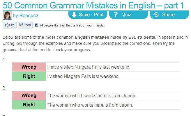 50 Most Common Mistakes Part 1 Of 2 English Guide Org