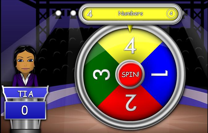 wheel fortune english game animals numbers colours clothes guide yellow shirt vocabulary