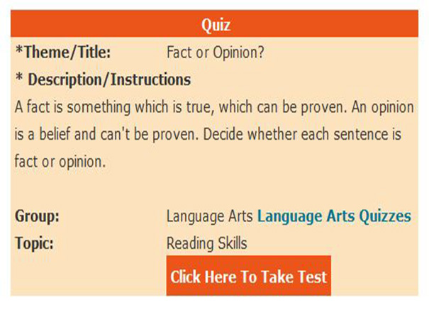 fact and opinion quiz pdf