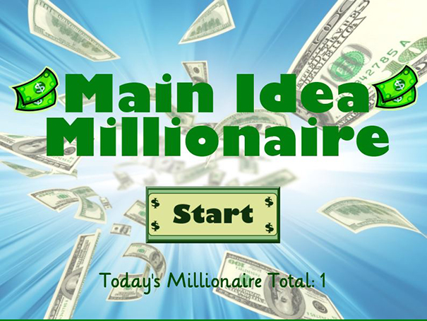 main idea millionaire