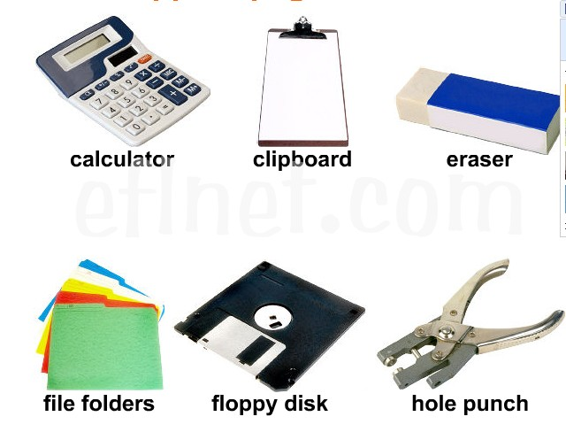 Office Supplies Picture Vocabulary Eflnet English Guide Org