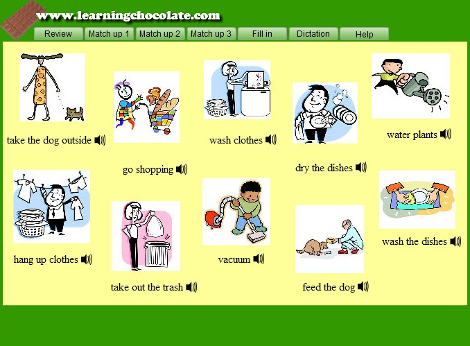 Housework Vocabulary English Guide Org