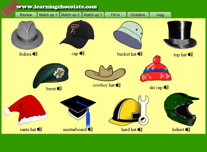 381dd112ea96f Hats Vocabulary