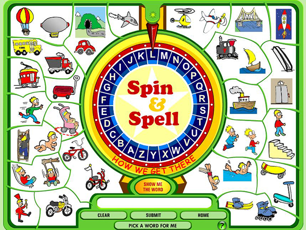 Spin And Spell Game
