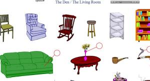 living room furniture names. fabulous den living room vocabulary practice english to furniture with  names in Furniture Names In English Free Worksheets Word