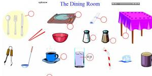 English for Dining room vocabulary esl