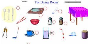 English for Dining room vocabulary esl